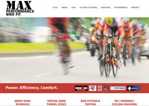 Max Performance Bike Fit website screenshot