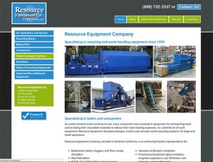 Resource Equipment website