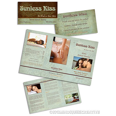 Sunless Kiss Business Card and Brochure